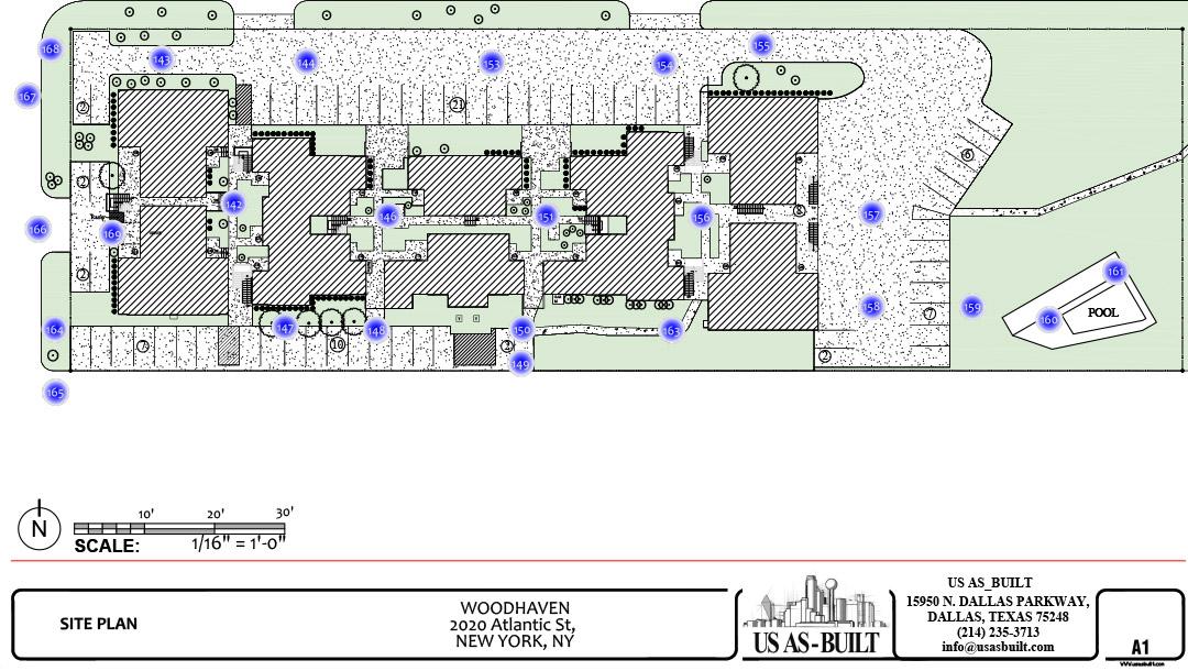 Apartment site plan 1 us as built for Apartment plans for 60x40 site