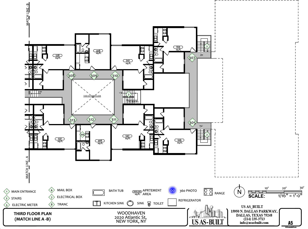 Shop drawings us as built for Apartment site plan