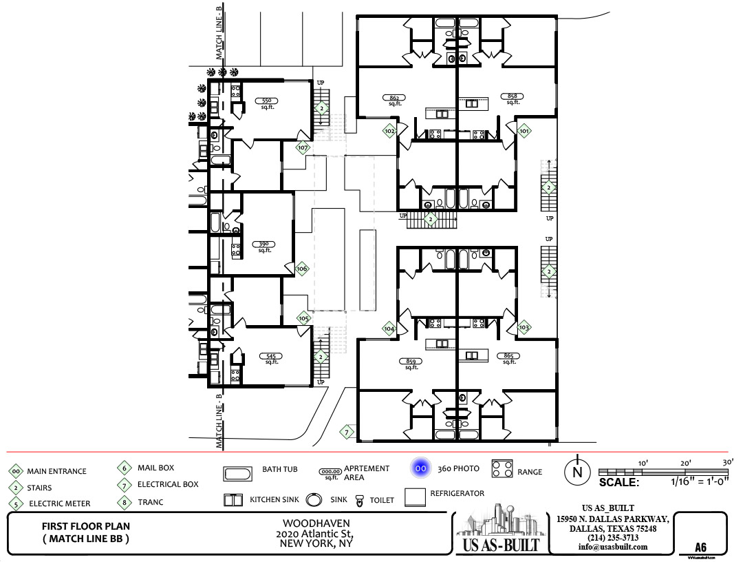 Apartment site plan 7 us as built for Apartment site plan