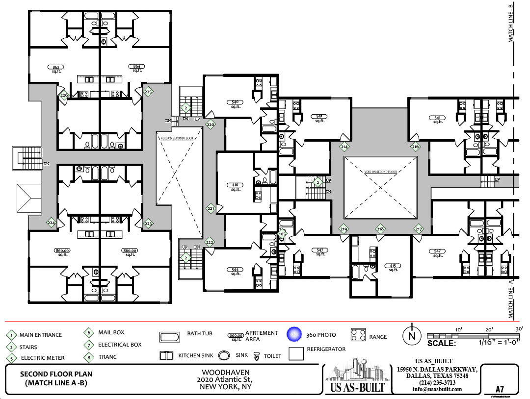 Apartment site plan 8 us as built for Apartment site plan