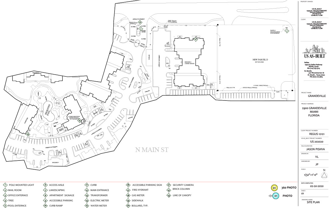 Commercial AS built Site Plan